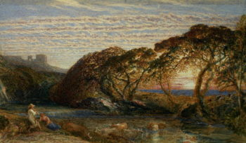 The Shadowy Stream | Samuel Palmer | oil painting