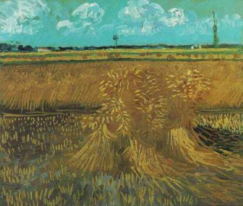 Wheat Field with Sheaves | Vincent Van Gogh | oil painting