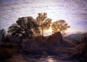The Water Mill | Samuel Palmer | oil painting