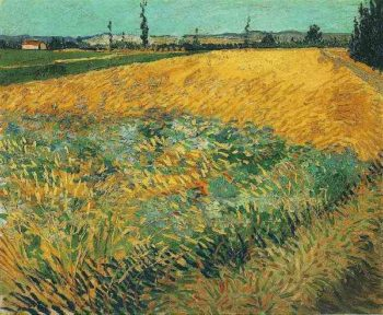 Wheat Field with the Alpilles Foothills in the Background | Vincent Van Gogh | oil painting
