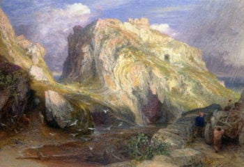 Tintagel Castle Approaching Rain | Samuel Palmer | oil painting