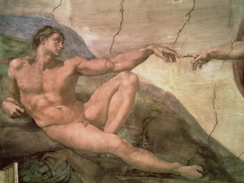 The Creation of Adam, from the Sistine Ceiling 1511 Michelangelo Buonarroti
