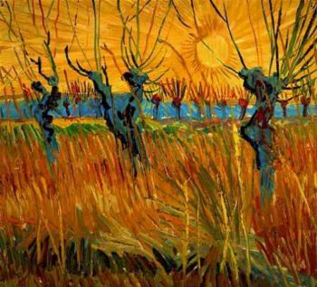 Willows at Sunset | Vincent Van Gogh | oil painting