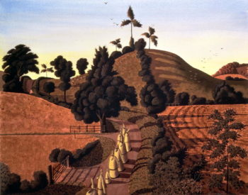 Procession on the Summer Solstice | Simon Palmer | oil painting