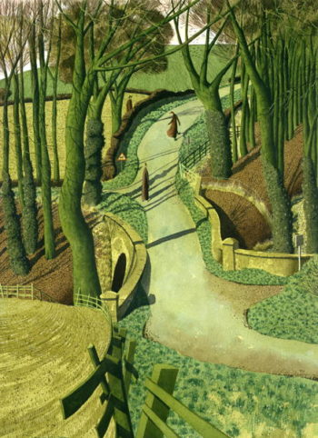 Two Images of Himself in the Future | Simon Palmer | oil painting