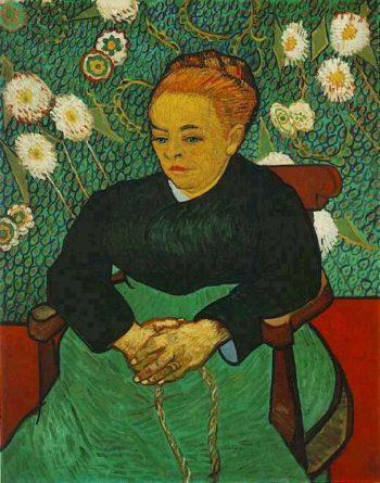 La Berceuse (Augustine Roulin) version 2 | Vincent Van Gogh | oil painting