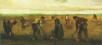 Farmers Planting Potatoes | Vincent Van Gogh | oil painting