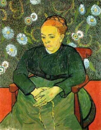 La Berceuse (Augustine Roulin) version 3 | Vincent Van Gogh | oil painting