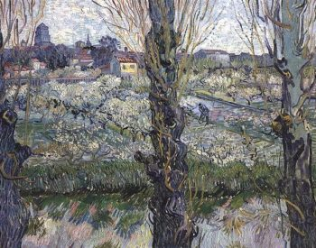 Orchard in Blossom with View of Arles | Vincent Van Gogh | oil painting