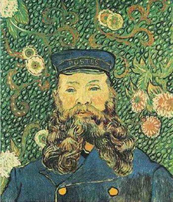 Portrait of the Postman Joseph Roulin version 2 | Vincent Van Gogh | oil painting