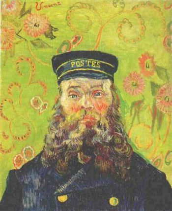 Portrait of the Postman Joseph Roulin | Vincent Van Gogh | oil painting