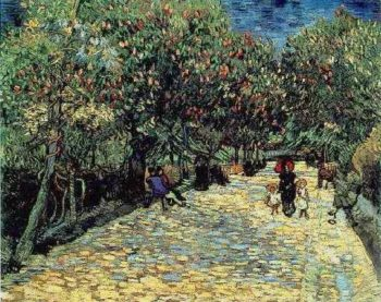 Red Chestnuts in the Public Park at Arles | Vincent Van Gogh | oil painting