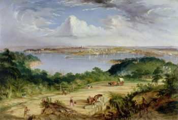 Sydney from St Leonards Road North Shore | Thomas Baines | oil painting