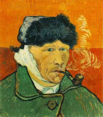 Self-Portrait with Bandaged Ear and Pipe | Vincent Van Gogh | oil painting