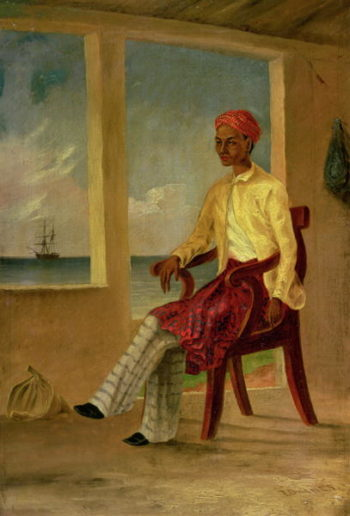 A Malay native of Batavia at Copang | Thomas Baines | oil painting
