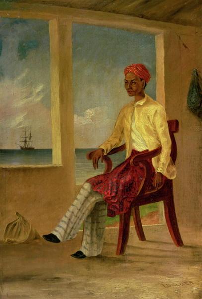 A Malay native of Batavia at Copang | Thomas Baines | oil painting