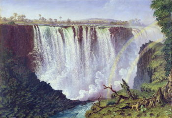 The Great Western Fall Victoria Falls 1862 | Thomas Baines | oil painting
