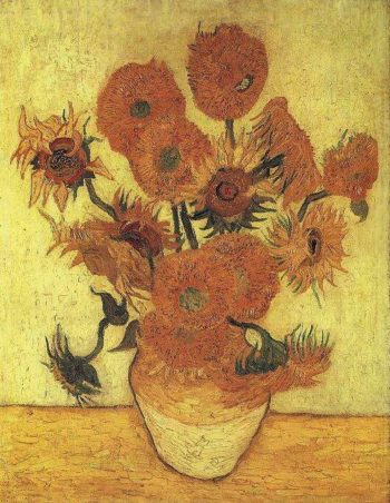 Still Life Vase with Fifteen Sunflowers version 2 | Vincent Van Gogh | oil painting