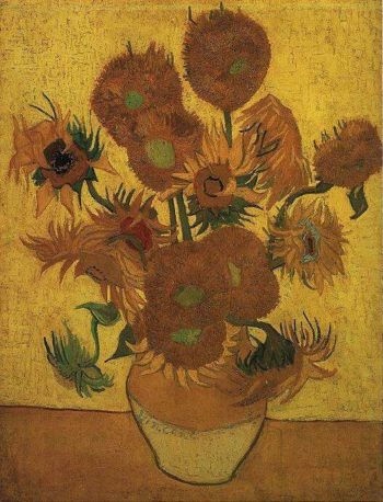 Still Life Vase with Fifteen Sunflowers | Vincent Van Gogh | oil painting