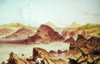 Three Channel Rapids above Kebrabasa on the Zambezi | Thomas Baines | oil painting