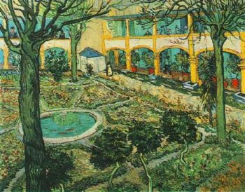 The Courtyard of the Hospital at Arles | Vincent Van Gogh | oil painting