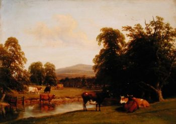 Scene at Enville 1852 | Thomas Baker | oil painting