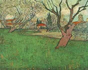 View of Arles with Trees in Blossom | Vincent Van Gogh | oil painting