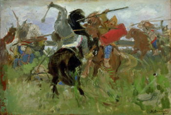 Battle between the Scythians and the Slavonians 1879 | Victor Mikhailovich Vasnetsov | oil painting