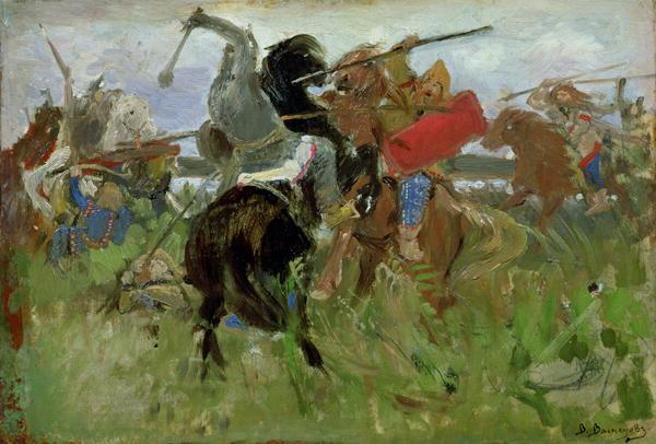 Battle between the Scythians and the Slavonians 1879 | Victor Mikhailovich Vasnetsov | oil painting