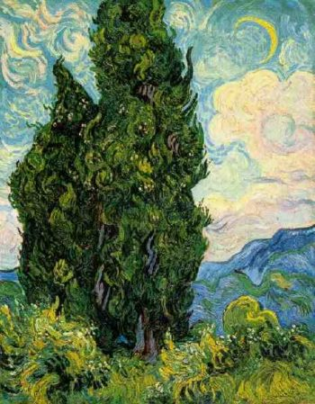 Cypresses | Vincent Van Gogh | oil painting