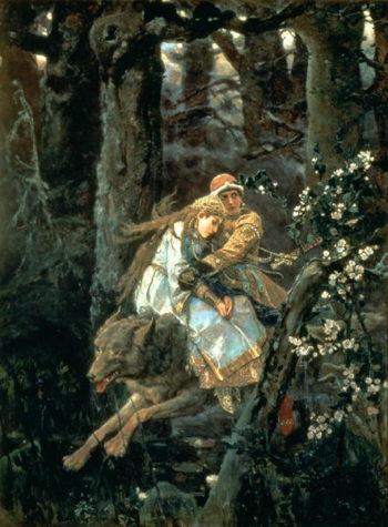 Prince Ivan on the Grey Wolf 1889 | Victor Mikhailovich Vasnetsov | oil painting