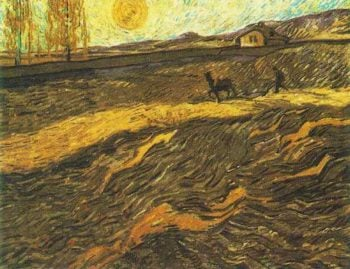 Enclosed Field with Ploughman | Vincent Van Gogh | oil painting