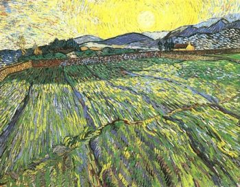 Enclosed Field with Rising Sun | Vincent Van Gogh | oil painting
