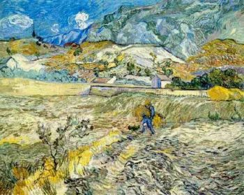 Enclosed Wheat Field with Peasant | Vincent Van Gogh | oil painting
