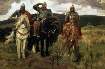 Warrior Knights 1881 98 | Victor Mikhailovich Vasnetsov | oil painting