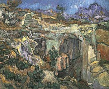 Entrance to a Quarry near Saint-Remy | Vincent Van Gogh | oil painting