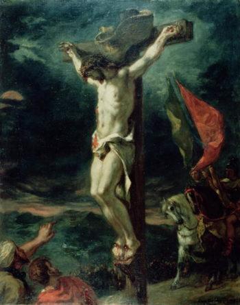 Crucifixion 1846   Eugene Delacroix   oil painting