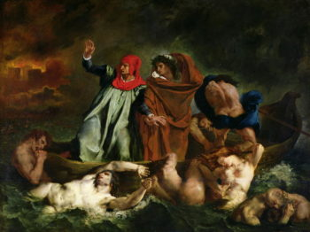 Dante   Eugene Delacroix   oil painting