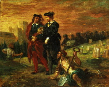 Hamlet and Horatio in the Cemetery 1859 | Eugene Delacroix | oil painting