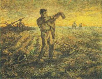 Evening The End of the Day (after Millet) | Vincent Van Gogh | oil painting