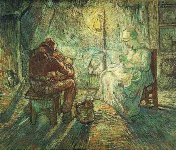 Evening The Watch (after Millet) | Vincent Van Gogh | oil painting