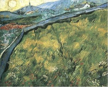 Field of Spring Wheat at Sunrise | Vincent Van Gogh | oil painting