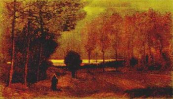 Autumn Landscape at Dusk | Vincent Van Gogh | oil painting