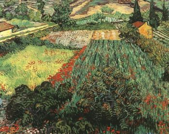 Field with Poppies | Vincent Van Gogh | oil painting