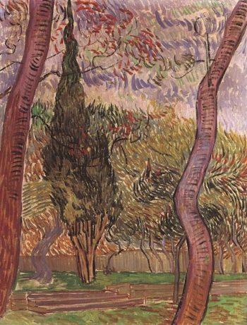 Garden of Saint-Paul Hospita version 2 | Vincent Van Gogh | oil painting