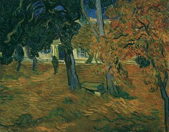 Garden of Saint-Paul Hospital version 3 | Vincent Van Gogh | oil painting