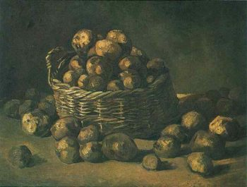 Basket of Potatoes | Vincent Van Gogh | oil painting