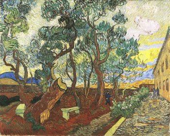 Garden of Saint-Paul Hospital version 4 | Vincent Van Gogh | oil painting