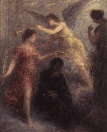 Apotheose de Berlioz 19th century   Ignace Henri Jean Fantin Latour   oil painting