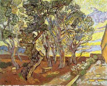 Garden of Saint-Paul Hospital version 5 | Vincent Van Gogh | oil painting